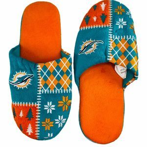 NFL Miami Florida Dolphin Holiday Slip On Slippers